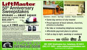 Cedarburg Overhead Door Milwaukee Journal Sentinel Wi Business Directory Coupons