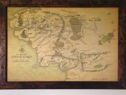 World Map Framed Got My Map Of Middle Earth Framed Today Lotr