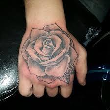 rose tattoos on hand best 25 rose hand tattoo ideas on pinterest
