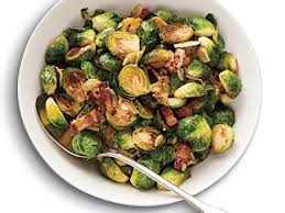 brussels sprouts with bacon garlic shallots recipe myrecipes