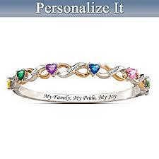 bracelets with birthstones my family my pride my personalized bracelet with birthstones