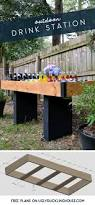 one drink table diy outdoor drink station for backyard entertaining u2013 the ugly