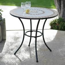 Pier One Bistro Table Furniture Enticing White Outdoor Mosaic Bistro Table Design