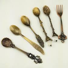 set 6 pcs vintage style 6pcs set vintage style spoon forks sweet coffee dessert cutlery