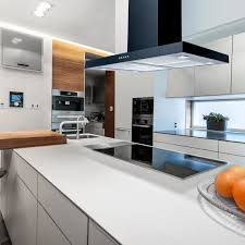 kitchen island extractor fans 90cm flat island cooker hood black within kitchen extractor decor