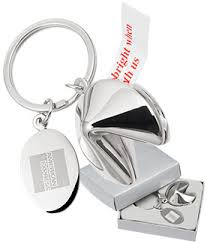 fortune cookie keychain metal keychains with customizable engraving ppo