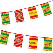 International Bunting Flags Wild West Mexican Fiesta Party Pennant Flag Hanging Banner Bunting