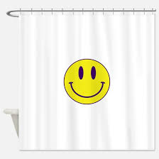 Purple And Gold Shower Curtain Emoji Face Shower Curtains Cafepress