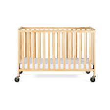 heavy duty solid wood folding crib full size