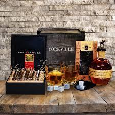 whiskey gift basket bourbon cigars liquor gift basket toronto canada yorkville s
