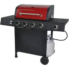 Walmart Bbq Canopy by Revoace 4 Burner Lp Gas Grill With Side Burner Red Sedona