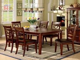 cherry kitchen table set furniture of america cm3149t cm3149sc carlton 7 pieces transitional