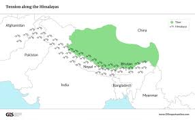 Himalayan Mts Map China And India Are Increasingly Active In The Strategically