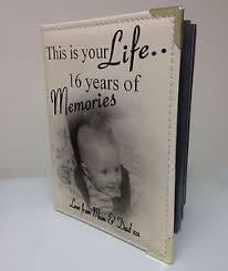 Personalised Photo Albums Personalised Photo Album Memory Book This Is Your Life 16th
