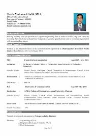 templates for freshers resume sle resume for electronics engineer instrument engineer sle