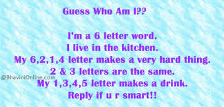 guess the six letter word i live in the kitchen bhavinionline com