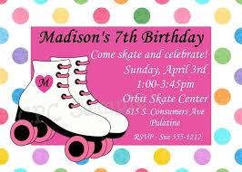roller skating birthday invitations wblqual com