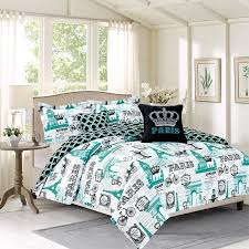 Blue Bed Sets For Girls by Bedding Twin 4 Piece Girls Comforter Bed Set Paris Eiffel Tower