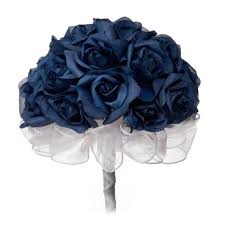 blue wedding bouquets navy blue silk tie bridal bouquet 24 roses