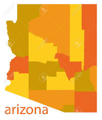 County Map Of Arizona by Arizona State Vector Map Royalty Free Cliparts Vectors And Stock