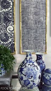 focal point styling diy indigo wall art with framed fabric