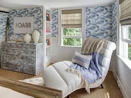 ocean wallpaper bedroom transitional with grey and white pasted