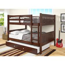 Donco Kids Full Over Full Bunk Bed With Trundle  Reviews Wayfair - Donco bunk beds