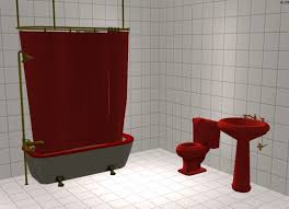mod the sims maxis matching red bathroom set