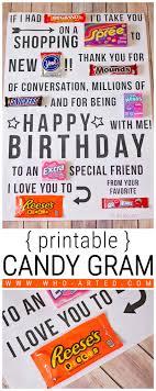 send a birthday gram candy gram birthday card printable