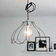 Wire Chandelier Diy 25 Unique Wire Lampshade Ideas On Pinterest Rose Gold