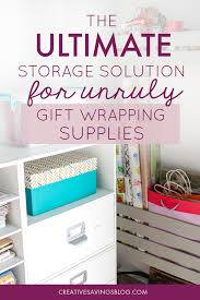 gift wrap storage ideas simple gift supply organization center fits perfectly in small
