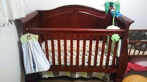 Cherry Convertible Crib 3 In 1 Jardine Lifetime Convertible Crib Cherry Furniture