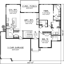 deck floor plan image result for floor plan bungalow covered deck 3 car garage 2
