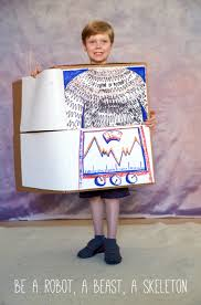 how to make halloween costumes made from a cardboard box