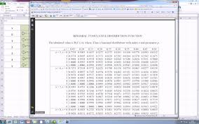 Binomial Probabilities Table How To Create A Cumulative Binomial Distribution Table Youtube