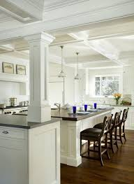 Kitchen Room Divider Kitchen Column Ideas Kitchen Traditional With Room Dividers White