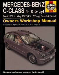 mercedes benz c class petrol and diesel service and repair manual