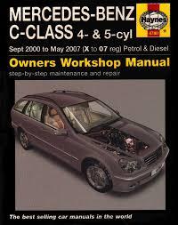 mercedes benz c class petrol and diesel service and repair manual