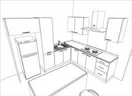 interior design sketches kitchen interior design