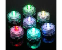 submersible rgb led tea lights led candle lights floralytes
