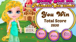 baby barbie princess costumes play game
