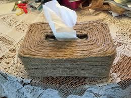 chrome tissue box cover 2 tissue box cover made made using jute a glue gun and