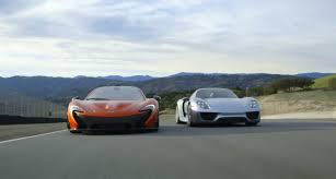 porsche mclaren p1 porsche 918 spyder and mclaren p1 duke it out on mazda raceway