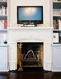 fireplace with tv above binhminh decoration