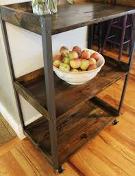 Industrial Kitchen Cart by Metal Rolling Cart For The Kitchen