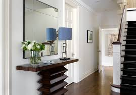 White Hallway Console Table Hallway Console Table Entry Transitional With Table Lamp Large