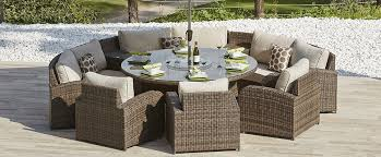 Rattan Patio Furniture Sale by Eclipse 2 Rattan Sofa U0026 Dining Set Dining Sets Outdoor Nooks