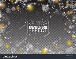 snowflakes frame snowfall lights on transparent stock vector