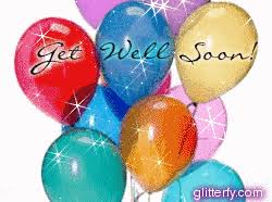 get well soon and balloons glitterfy get well soon glitter graphics
