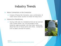 bio cremation care industry trends shelby reeves jacob mode ppt